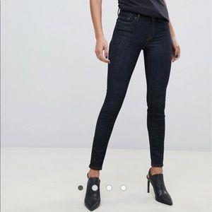 AllSaints grace skinny jeans in indigo blue